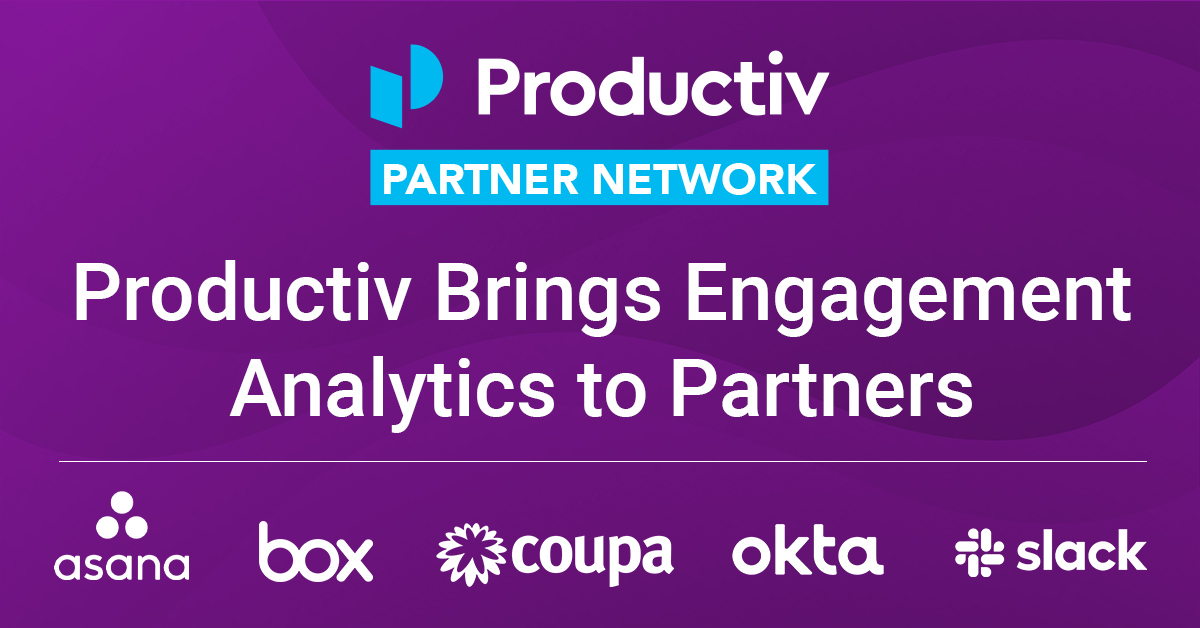 Productiv Brings Engagement Analytics to SaaS Partners with Productiv Partner Network